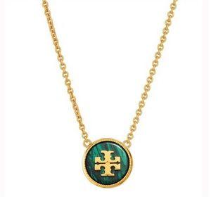 TORY BURCH • Semiprecious Stone Logo Necklace